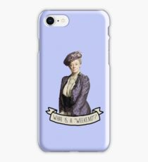 Lady Grantham Dowager Countess Violet Downton Abbey iPhone Case/Skin