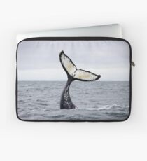 Waving Whale's Tail Laptop Sleeve