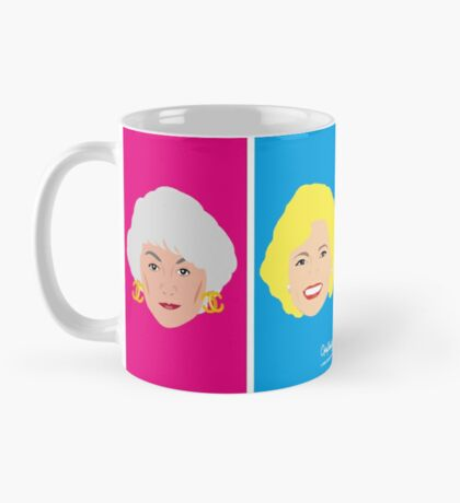 The Golden Girls - All Four on a colourful design Mug