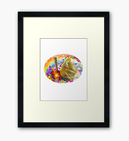 Diamond Lion Carousel collection Framed Print