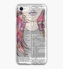 Grunge Girl Print- Pink Roses iPhone Case/Skin