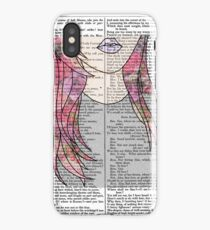 Grunge Girl Print- Pink Roses iPhone Case/Skin