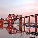 Forth Railway Bridge Sunset by Grant Glendinning
