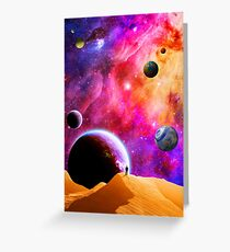 Space Solitude Greeting Card