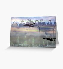 """""""Lest we forget """"- 158  squadron Lissett Greeting Card"""