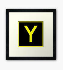 Y - yankee - taxiway sign Framed Print