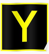 Y - yankee - taxiway sign Poster