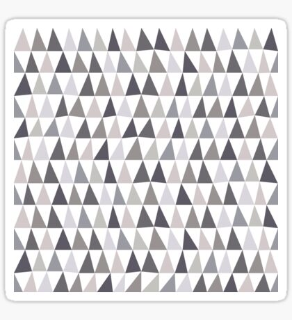 Muted Triangles Imperfect Geometry Sticker