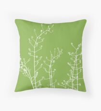 Botanical Abstract. Greenery -  Pantone Color of the Year 2017 Throw Pillow