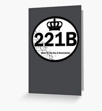 221B Baker St. Greeting Card