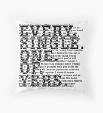 The Courteeners Throw Pillow