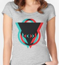 Eye 3D See You Women's Fitted Scoop T-Shirt