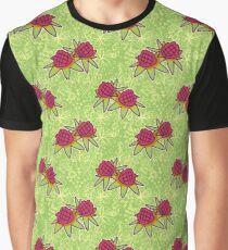 Pineapple Blossoms Floral Pattern Graphic T-Shirt