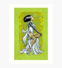 Bride of Frankenstein Pinup Art Print