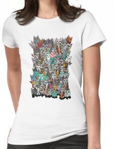 Gemstone Cats - Emerald Womens Fitted T-Shirt