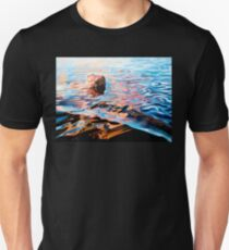 Trippy Painting - Woman In Lake T-Shirt