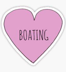 I Love Boating Sticker