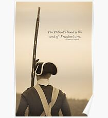 Patriots Blood Quote Poster