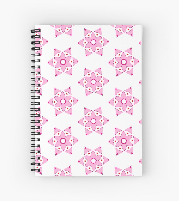 Cuadernos de espiral «Flor rosa simple» de KaylinArt | Redbubble