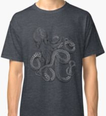 Realistic Octopus - Two Tone Classic T-Shirt