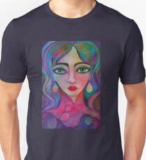 Girl with rainbow earrings Unisex T-Shirt
