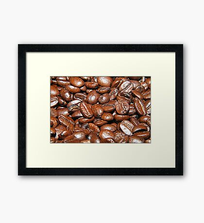 Selective coffee beans  Framed Print