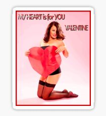 VALENTINE PIN UP HEART; Beautiful Print Sticker