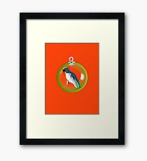 Aussi  X-mas  Cockatoo Card ( Red ) stock up! get ready for christmas ! Framed Print