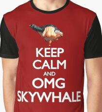Keep Calm and OMG SKYWHALE Graphic T-Shirt