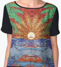 Rick And Morty Sun Tapestry  Women's Chiffon Top