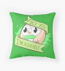 Rowlet the Adorable Throw Pillow