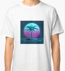 Vaporwave tree Classic T-Shirt