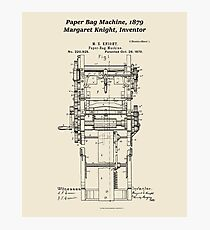 Margaret Knight, Inventor of the Paper Bag Machine Photographic Print