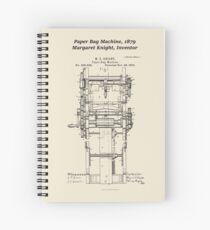 Margaret Knight, Inventor of the Paper Bag Machine Spiral Notebook