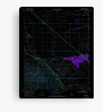 USGS TOPO Map California CA Tupman 102072 1954 24000 geo Inverted Canvas Print