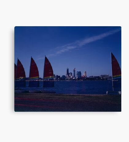 Sails on the Swan Canvas Print