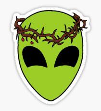 Jesus Was an Alien Sticker