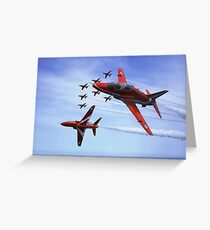 The RAF (Royal Air Force) Red Arrows Greeting Card