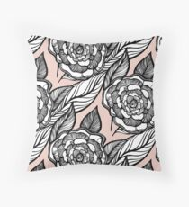 rose flowers pattern Throw Pillow
