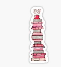 Pink Books   Sticker