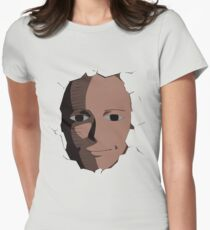 Saitama Face Expression (One Punch Man Anime) Womens Fitted T-Shirt