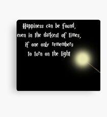 Dumbeldore's Happiness Quote Canvas Print