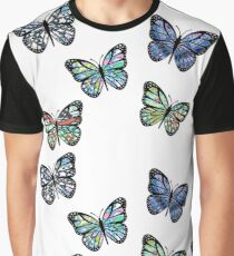 Cute Patterned, Flying Butterflies Pack of 5 Graphic T-Shirt