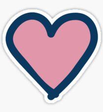 little pink heart Sticker