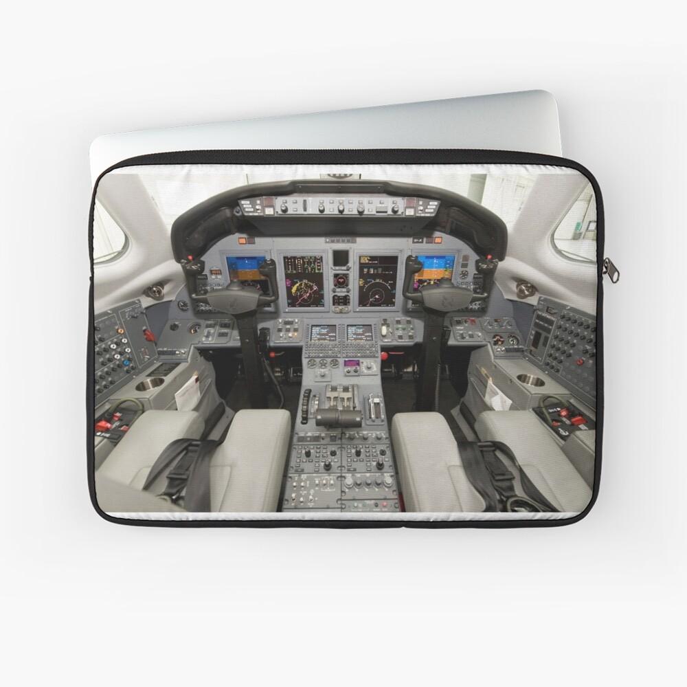 Flight Deck Cessna Citation X Cockpit Laptop Sleeve