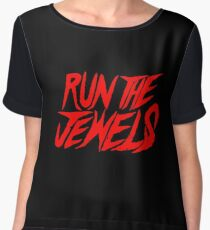 Run The Jewels Logo Chiffon Top