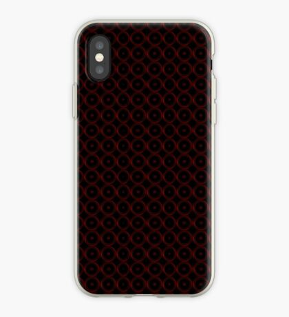 Black with Red Circles iPhone Case
