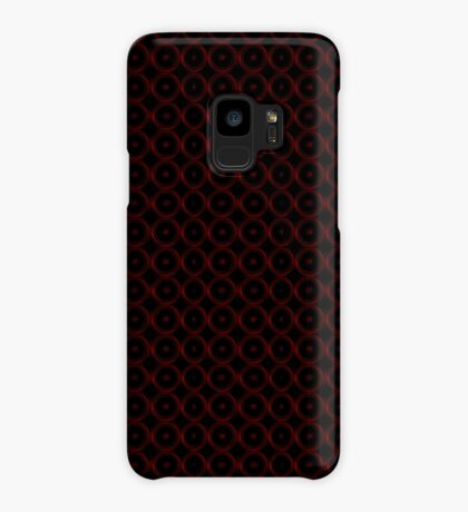 Black with Red Circles Case/Skin for Samsung Galaxy