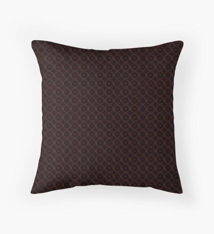 Black with Red Circles Throw Pillow