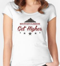Mountain Climbers Get Higher Women's Fitted Scoop T-Shirt